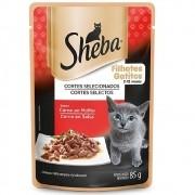 Alimento úmido Sheba Cortes Selecionados Carne ao Molho para Gatos Filhotes - Mars (85g)