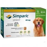 Antipulgas, Carrapatos e Sarnas Simparic 80 mg (Sarolaner) para Cães de 20,1 a 40 kg - Zoetis (1 comprimido)
