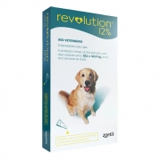 Antipulgas, Carrapatos, Sarnas e Vermes Revolution 12% para Cães de 20,1 A 40 kg (1 tubo) - Zoetis