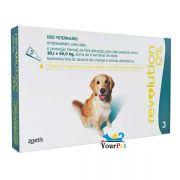 Antipulgas, Carrapatos, Sarnas e Vermes Revolution 12% para Cães de 20,1 a 40 kg - Zoetis (combo com 3 pipetas)