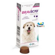 Antipulgas e Carrapatos Bravecto  1400 mg para Cães de 40 a 56 kg - MSD