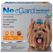 Antipulgas e Carrapatos Nexgard 11,3 mg para Cães de 2 a 4 kg - Merial (3 tabletes)