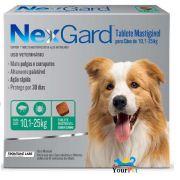 Antipulgas e Carrapatos Nexgard 68 mg para Cães de 10,1 a 25 kg - Merial (3 tabletes)