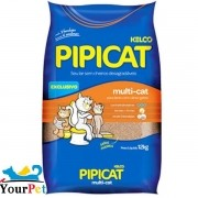 Areia Sanitária Pipicat Multicat para Gatos - Kelco (12kg)