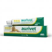 Aurivet - Suspensão Oleosa otológica, antibiótica, antimicótica, anti-inflamatória e analgésica - Vetnil (13 g)