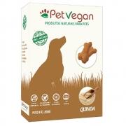 Biscoitos Pet Vegan Quinoa - Petisco Saudável Vegano para Cães (200g)
