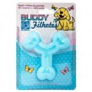 Brinquedo Flex Resistente para Cães Filhotes Ossinho Azul - Buddy Toys