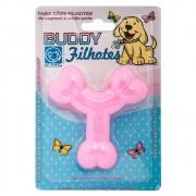 Brinquedo Flex Resistente para Cães Filhotes Ossinho Rosa - Buddy Toys
