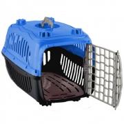 Caixa de Transporte com Sanitário N2º para Cães e Gatos - Burdog (Azul)