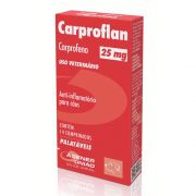 Carproflan 25mg - Anti-inflamatório para Cães à base de Carprofeno - Agener (14 comprimidos palatáveis)