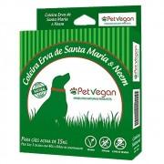 Coleira Repelente Natural Erva de Santa Maria e Neem para Cães acima de 15kg (64cm) Pet Vegan