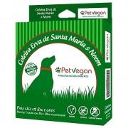 Coleira Repelente Natural Erva de Santa Maria e Neem para Cães até 8kg e Gatos (58cm) Pet Vegan