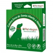 Coleira Repelente Natural Erva de Santa Maria e Neem para Cães de 8kg a 15kg (58cm) Pet Vegan