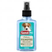 Colônia Sanol Dog Filhotes Baby Lavender Essência Talcada para Cães e Gatos (120 ml) - Total Química