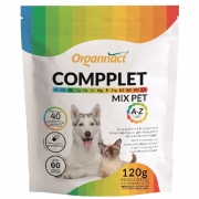 Compplet Mix Pet A-Z Tabs Suplemento Alimentar para Cães e Gatos - 60 tabletes (120 g) - Organnact