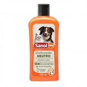Condicionador Neutro Sanol Dog para Cães e Gatos (500 ml) - Total Química