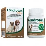 Condroton 500mg - Regenerador articular com Sulfato de Condroitina A para Cães (60 comprimidos) Vetnil