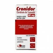 Cronidor 80mg - Analgésico para Cães e Gatos à base de Cloridrato de Tramadol - Agener (10 comprimidos)