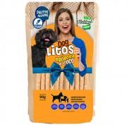 Dog Litos - Palitos Veganos Assados de Abóbora e Coco para Cães Adultos e Filhotes de Todas as Raças (90g)