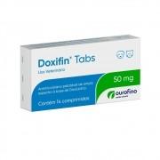 Doxifin Tabs 50 mg - Antimicrobiano Palatável à base de Doxiciclina - OuroFino (14 comprimidos)