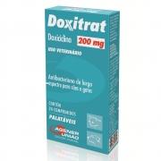 Doxitrat 200 mg - Antibacteriano à base de Doxiciclina para Cães e Gatos - Agener (24 comprimidos palatáveis)