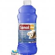 Eliminador de Odores Tradicional Sanol Dog - Limpeza de quintais, canis e clínicas veterinárias - Total Química (500ml)