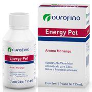 Energy Pet - Suplemento vitamínico Aminoácido para Cães, Gatos e Pequenos Animais - OuroFino (125 ml)