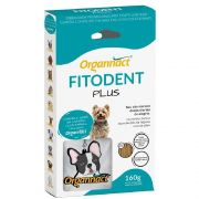 Fitodent Plus Palitos - Auxílio na limpeza dos dentes, controla o tártaro em Cães - Organnact (160g) + Chaveiro Brinde