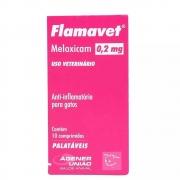 Flamavet 0,2 mg - Anti-inflamatório palatável para Gatos à base de Meloxicam - Agener (caixa com 10 comprimidos)