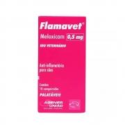 Flamavet 0,5 mg - Anti-inflamatório palatável para Cães à base de Meloxicam - Agener (caixa com 10 comprimidos)
