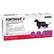 Fortekor 5 - Tratamento da Insuficiência Cardíaca congestiva em Cães e Renal crônica em Gatos - Novartis (28comprimidos)