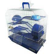 Gaiola Bragança 4 andares para Hamster - GR301 (Azul)