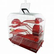Gaiola Bragança 4 andares para Hamster - GR301 (Vermelha)