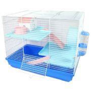 Gaiola Hamster Luxo - Chalesco (Azul)