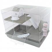 Gaiola Hamster Luxo - Chalesco (Cinza)