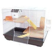 Gaiola Hamster Luxo - Chalesco (Marrom)