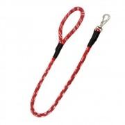 Guia de Corda Red Mosquetão giratório 100 x 1,2cm - São Pet (Vermelha)