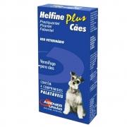 Helfine Plus Cães - Vermífugo para Cães à base de Praziquantel, Febantel e Pirantel - Agener (4 comprimidos palatáveis)