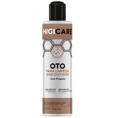 Higicare Oto -Limpeza dos ouvidos com extrato de própolis para Cães e Gatos - Centagro (500 ml)