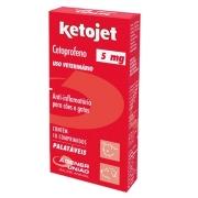 Ketojet 5 mg - Anti-inflamatório para Cães e Gatos à base de Cetoprofeno - Agener (10 comprimidos palatáveis)