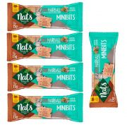 Kit 5 Snacks Mini Bits NatHairball Malte e Valeriana para Gatos - Auxílio na eliminação de bolas de pelo - Nats (15g)