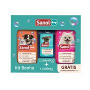 Kit Banho Sanol Dog (Shampoo Neutro + Colônia + Condicionador Revitalizante - Total Química
