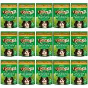 Kit com 15 - Alimento úmido Dog Chow Sachê Cordeiro Raças Pequenas para Cães Adultos extra life - Nestlé Purina (100g)