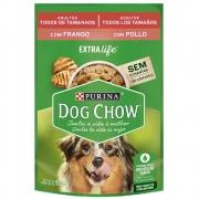 Kit com 15 - Alimento úmido Dog Chow Sachê Sabor Frango Todos os tamanhos Cães Adultos extra life Nestlé Purina (100g)