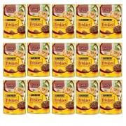 Kit com 15 - Alimento úmido Friskies Sachê Carne ao Molho para Gatos Adultos - Nestlé Purina (85g)