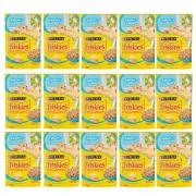 Kit com 15 - Alimento úmido Friskies Sachê Peixe Branco ao Molho para Gatos Filhotes - Nestlé Purina (85g cada)