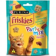 Kit com 15 - Petiscos Friskies Party Mix Camarão, Salmão e Atum Gatos Adultos - Nestlé Purina (40 g)