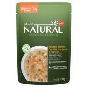 Kit com 18 -Alimento úmido Guabi Natural Sachê Cães Frango, Salmão, Cereais integrais e Vegetais - Affinity Guabi (100g)