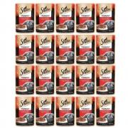 Kit com 20 - Alimento úmido Sheba Cortes Selecionados Carne ao Molho para Gatos Adultos - Mars (85g)