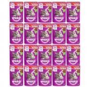Kit com 20 - Alimento úmido Whiskas  - Sachê Sabor Carne ao Molho para Gatos Adultos - Mars (85g)